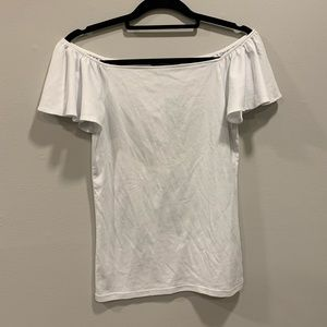 Ralph Lauren White On Off Shoulder Top NWT